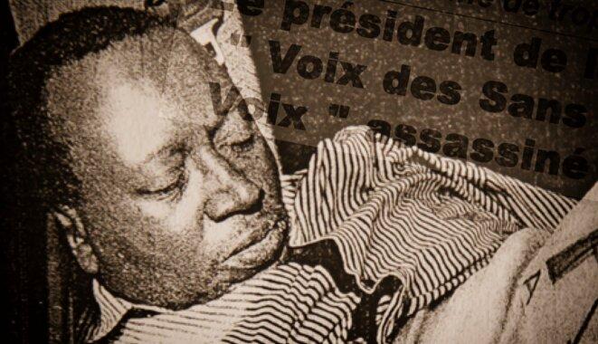 Le corps de Floribert Chebeya a été retrouvé sans vie dans sa voiture, mercredi 2 juin 2010 © DR
