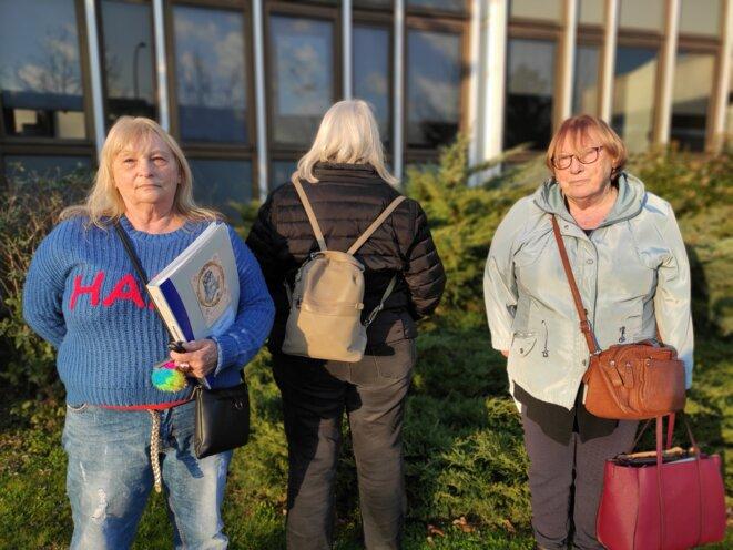 Marie-Christine Vennat, Sylvie et Éveline Le Bris, anciennes pensionnaires du Bon Pasteur, le 15 janvier 2021. © SB