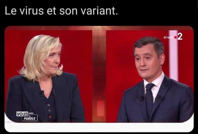 M. Le Pen et G. Darmanin
