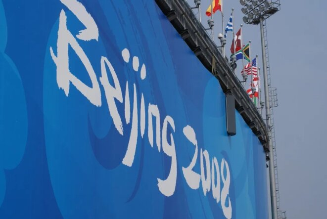 Une bannière des Jeux Olympiques de 2008 qui se sont tenus à Pékin, Photo: Adi Prabowo, via Flickr.