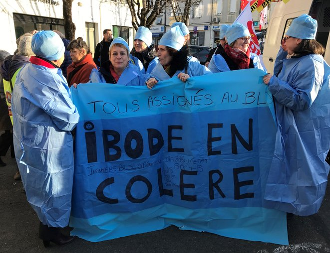 Infirmières du bloc opératoire, manifestation du 14 janvier 2020 [Ph. YF]