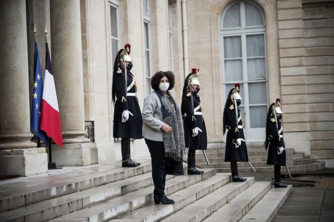 Frédérique Vidal à la sortie du conseil des ministres, le 27 janvier 2021. © Arthur Nicholas Orchard / Hans Lucas via AFP