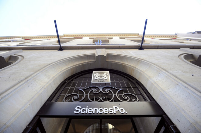 La façade de Sciences-Po à Paris. © Franck FIFE / AFP