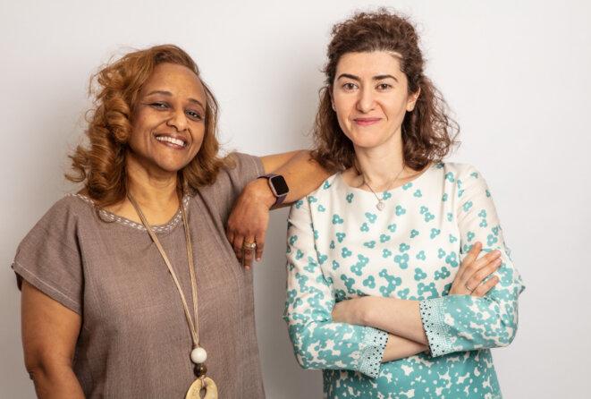 Maria Chahrour et Leah Seyoum-Tesfa au domicile de Maria. © Spectrum News