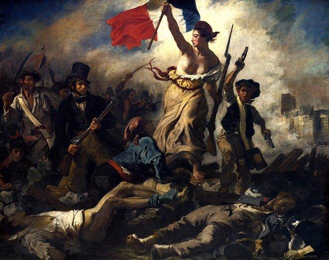 """Eugène Delacroix - La liberté guidant """"Le Peuple"""""""