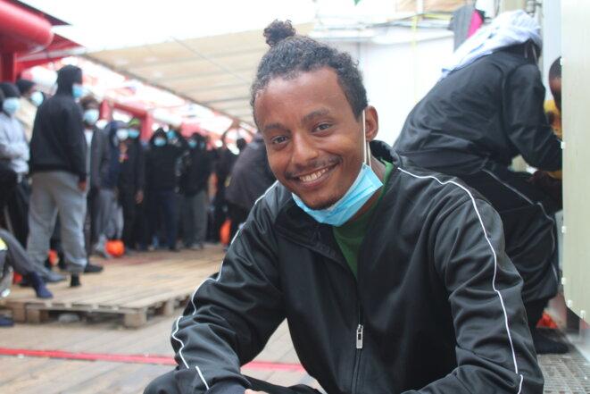 Ahmed, un jeune Érythréen, a fui la dictature de son pays dans l'espoir d'un avenir meilleur en Europe. © NB