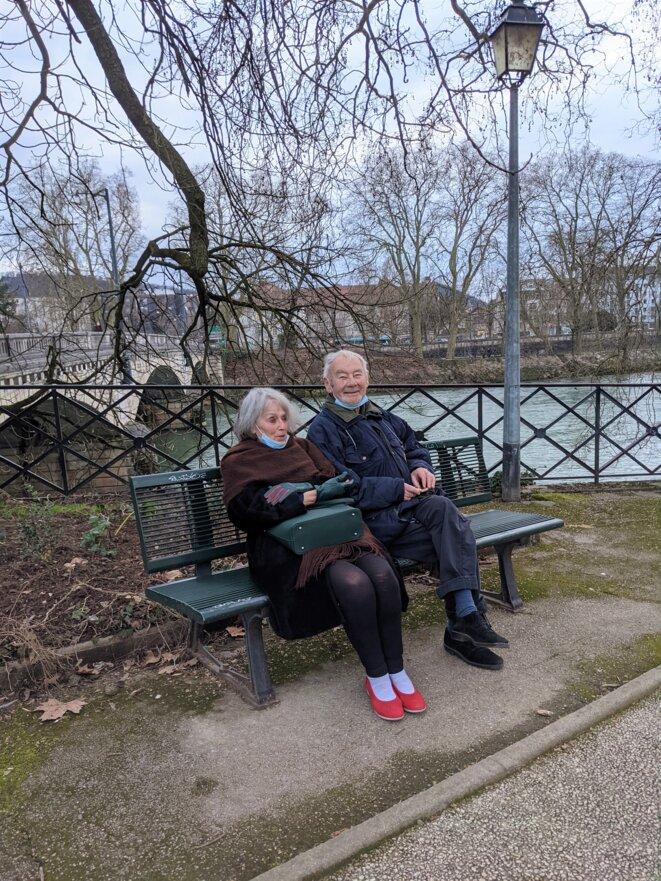 les vieux amants de Besançon © Mustapha Kharmoudi