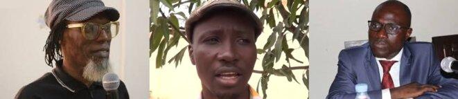 De gauche à droite :  Ayayi Togoata APEDO-AMAH, Enseignant-chercheur, Ancien Secrétaire Général de la Ligue Togolaise des Droits de l'Homme (LTDH), Monzolouwe ATCHOLI KAO, Président de l'Association des Victimes de la Torture au Togo (ASVITTO), Raphaël KPANDE-ADZARE, Avocat au Barreau du Togo, Ancien Président de la Ligue Togolaise des Droits de l'Homme (LTDH)