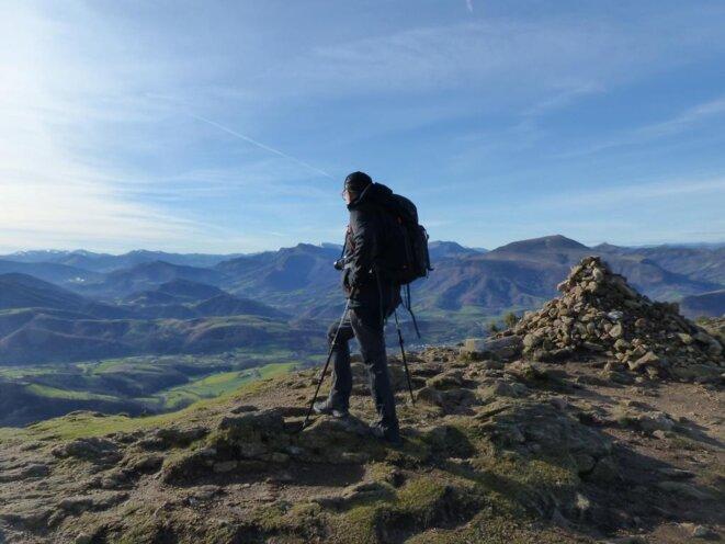 Thierry au sommet de l'Ursuia