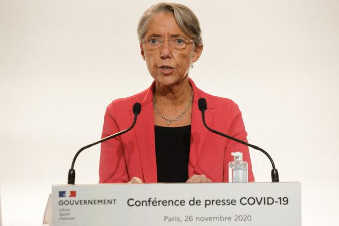 La ministre du travail annonce, fin novembre, la mise en œuvre d'une aide d'urgence. © Ludovic MARIN / POOL / AFP
