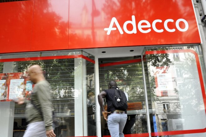 Une agence Adecco à Paris. © Only France via AFP