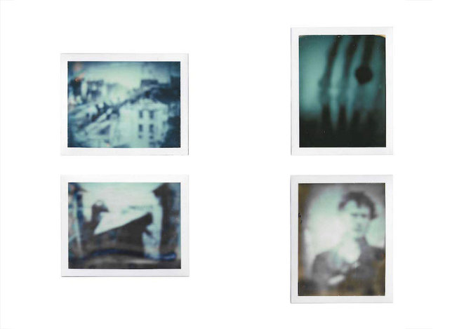 Pauline Beaudemont, The first successful permanent photographs, Quatre/ cinq Polaroïd, 2011, 10, 8 x 8,5 cm chacun © Pauline Beaudemont