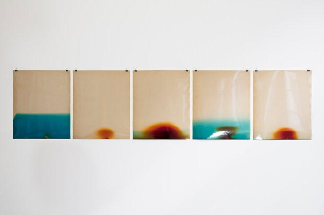 """Sébastien Reuzé, KODAK #01 (2015-2017), Kodak glossy obsolete RC paper, 50x60,5 cm, vue de l'exposition """"Time"""", Société d'électricité, Bruxelles, 2017 © Sébastien Reuzé, Adagp, Paris, 2020"""