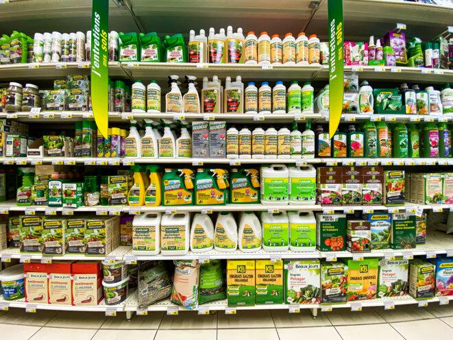 Dans un rayon de supermarché, en juillet 2020. © VOISIN / Phanie via AFP