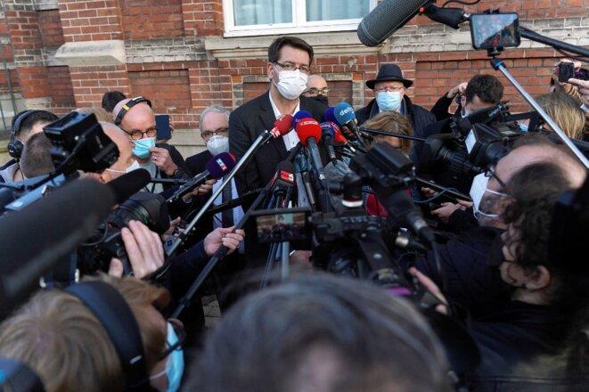 Le maire de Dunkerque, Patrice Vergriete, le 24 février. © Sylvain Lefevre / Hans Lucas via AFP
