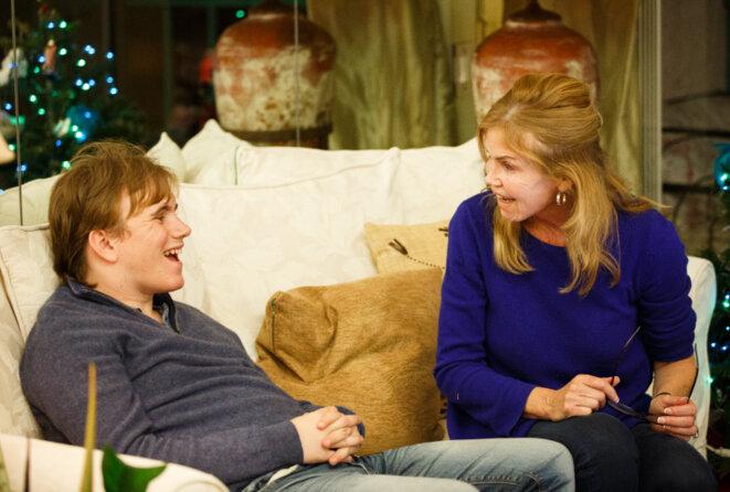 En phase : Lewis-Clack et sa mère, Cathleen Lewis, sont des compagnons constants.