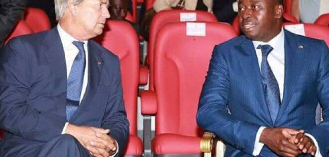 Vincent Bolloré et le président du Togo, Faure Gnassingbé. © D.R.