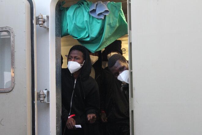 Mandjou, 35 ans, dénonce la responsabilité de l'Union européenne dans les exactions commises par la Libye. © NB