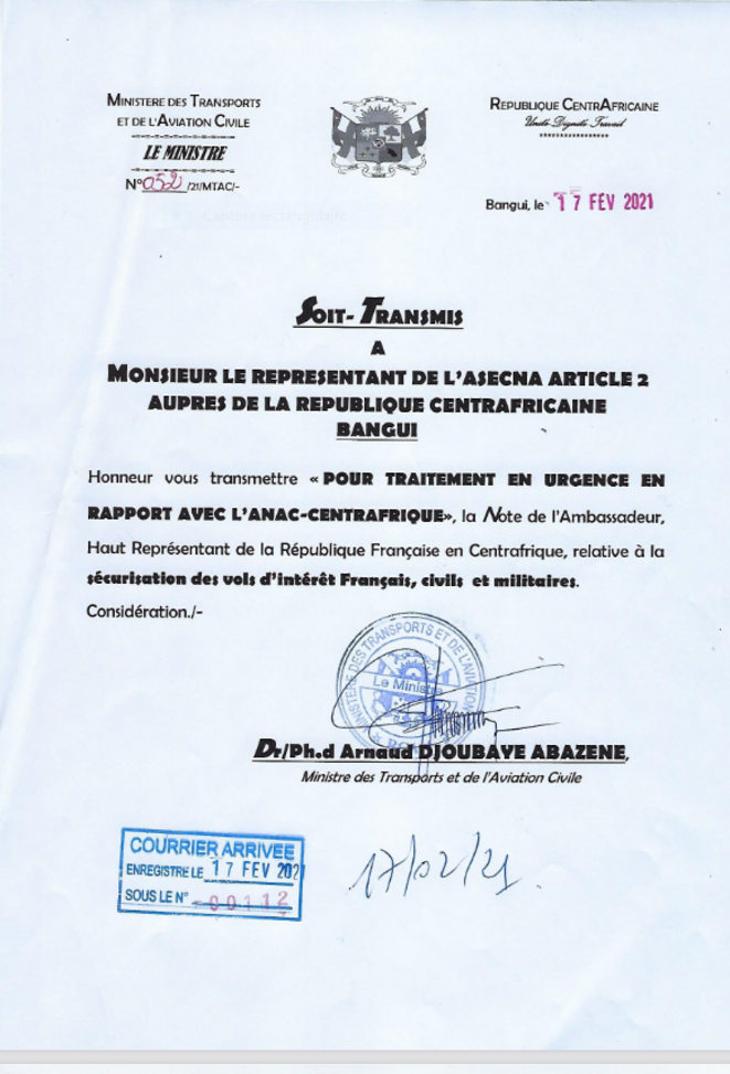 page-1-courrier-ministre-aviation-civile-rca