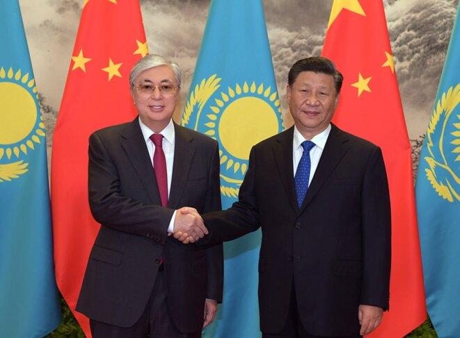 Le Kazakhstan dirigé par Kassym-Jomart Tokayev sévit contre les militants qui pourraient embarrasser la Chine. (document gouvernemental))