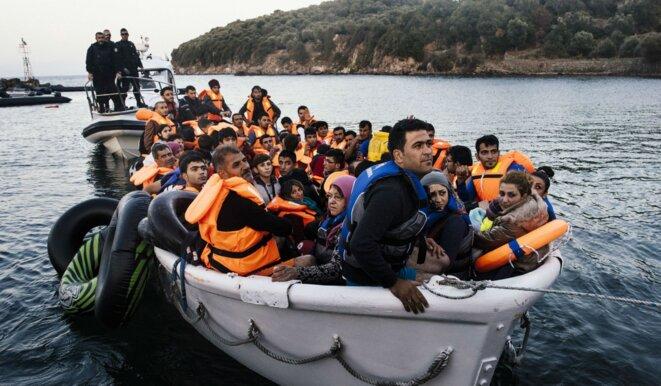 Migrants en Méditerranée © Alban De Ferris