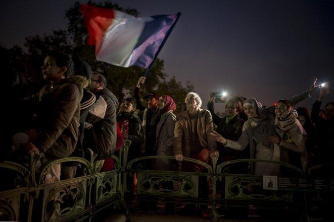 A demonstration in Paris against Islamophobia on November 10th 2019. © LÈo Pierre / Hans Lucas / Hans Lucas via AFP