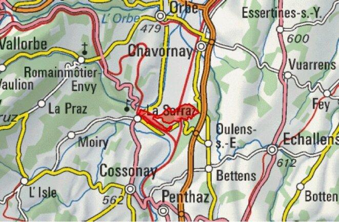 Le périmètre intégré à l'Inventaire fédéral des paysages suisses