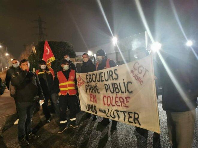 Rassemblement devant le site TAIS de Gennevilliers, jeudi 4/03/21 à 4h du matin