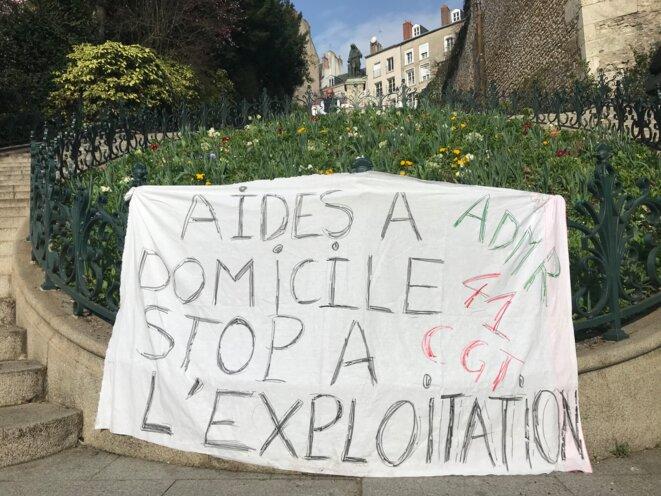 À Blois, la grève des aides à domicile dure depuis trois mois. © JP