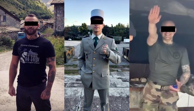 Sur Instagram, Lucas M. s'affiche à l'été 2019 vêtu d'un T-shirt à la gloire de la Division Charlemagne, une unité de la Waffen-SS composée de volontaires français. En 2020, il intègre la Légion étrangère. © Mediapart