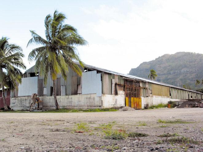 Abri au Gambier où était confinée la population en cas de retombées radioactives. © La Dépêche de Tahiti