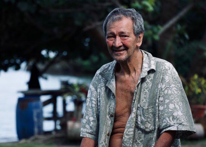 Portrait de Yves Salmon, une des 63 victimes polynésiennes reconnues par l'État français. © Mathieu Asselin / Disclose