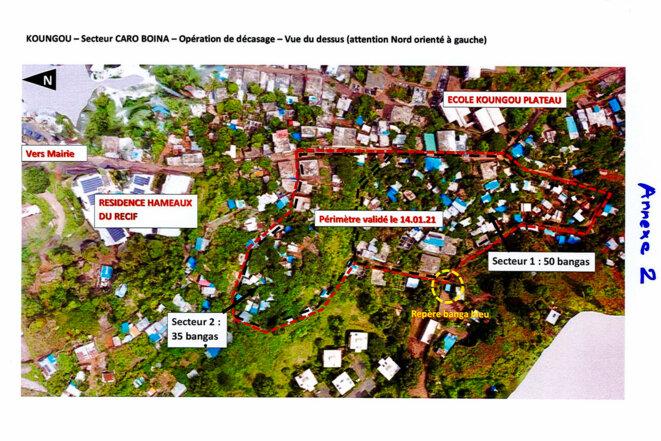 Carte de parcelle, document préparatoire © Préfecture de Mayotte