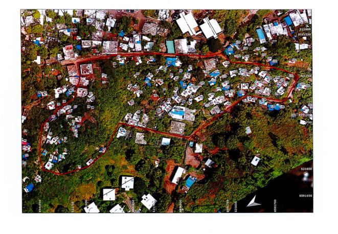 Numérotation des cases destinées à la démolition, 2021 © Préfecture de Mayotte