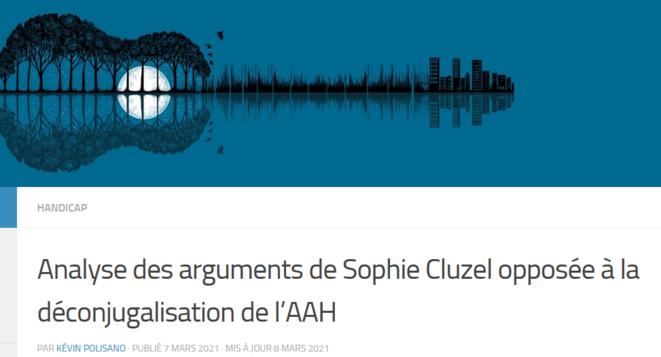 Article de Kévin Polisano sur les arguments de Sophie Cluzel