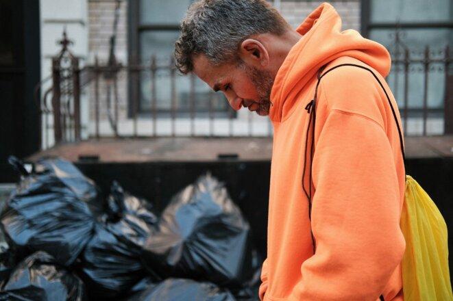 Marco, un sans-abri, à New York, le 10 mars 2021. © Spencer Platt/Getty Images North America/AFP