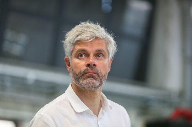 Laurent Wauquiez dans la Drôme en juin 2020. © Nicolas Guyonnet / AFP