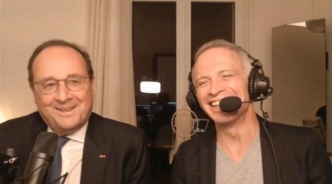 Samuel Étienne et François Hollande sur Twitch