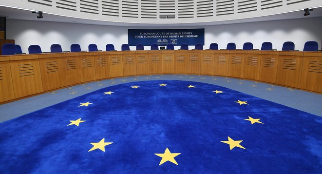 Inside the European Court of Human Rights. © FREDERICK FLORIN / AFP