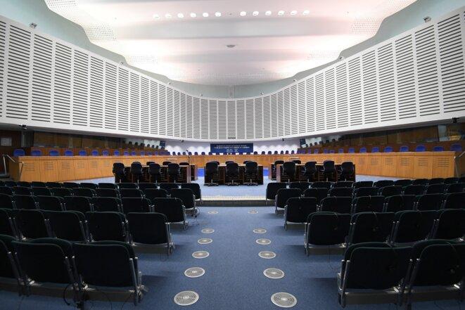 La Cour européenne des droits de l'homme (CEDH), à Strasbourg. © FREDERICK FLORIN / AFP