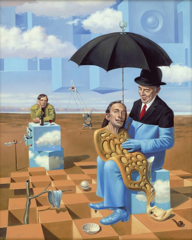 Lullaby of Uncle Magritte. © Michael Cheval