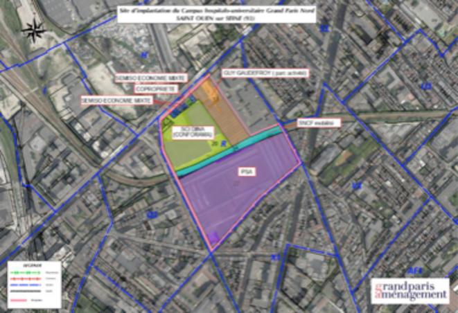 Site de construction du GHPN © Grand Paris Amenagement