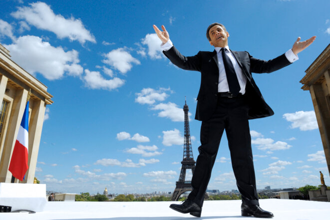 Le meeting du Trocadéro, le 1er mai 2012. © Philippe Wojazer / POOL / AFP