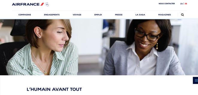 Le site d'Air France. © Capture d'écran