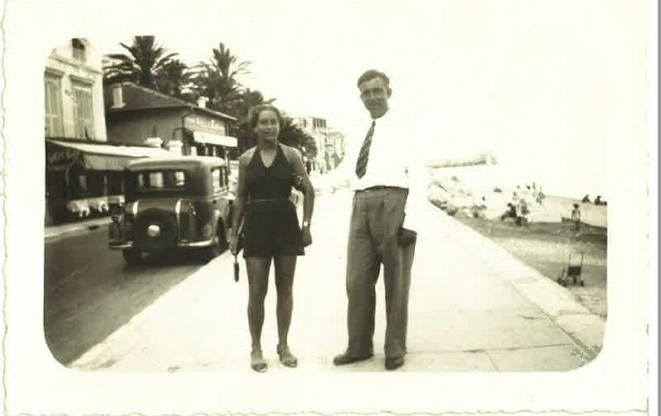 Leni Frei et Hans Venedey à Nice avant la guerre