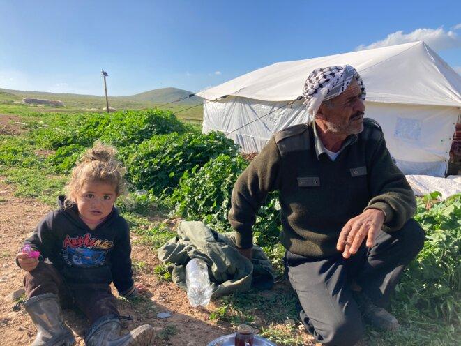 Ismail Abou al-Kabash, 63 ans, est aussi vieux que l'exil de sa famille, originaire du sud d'Hébron et chassée après la guerre israélo-arabe de 1948. © SF
