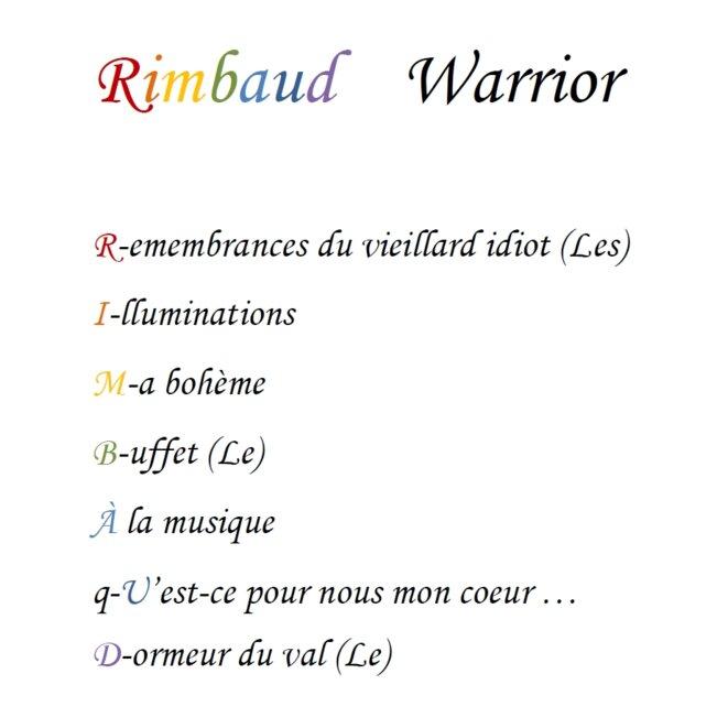 Rimbaud Warrior © Mise-en-Page : Ich