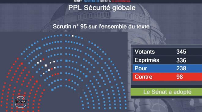Sénat, 18 mars 2021, vers 19h © david dufresne