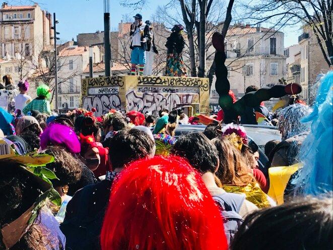 Carnaval de la plaine, Marseille, 21 mars 2021. © Pablo Schellinger
