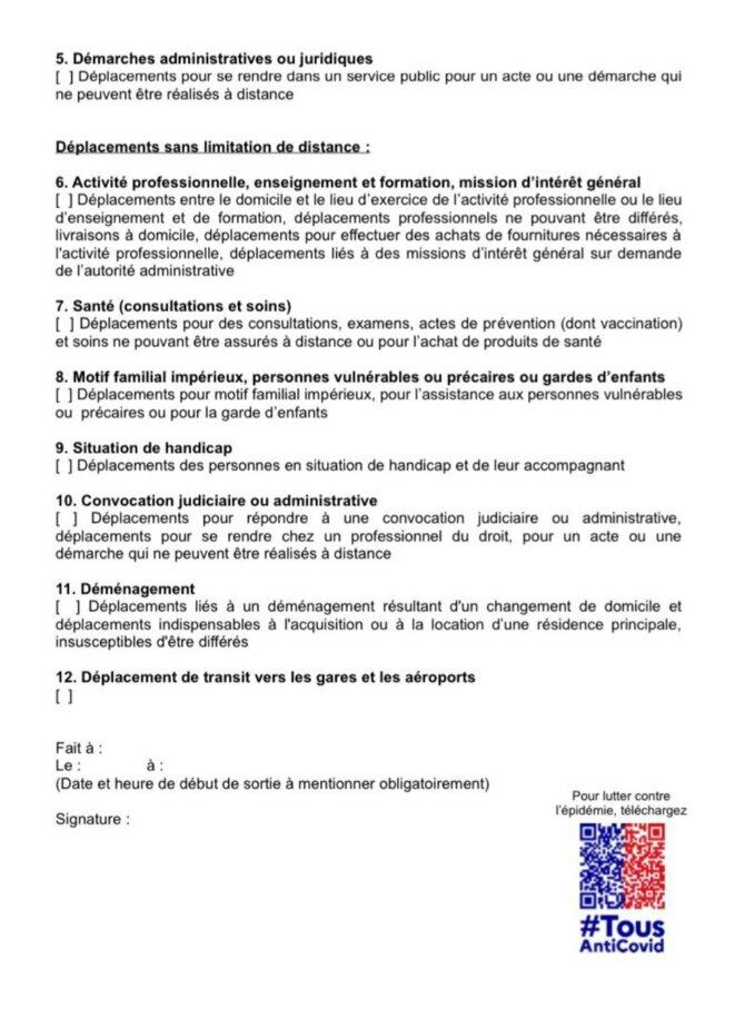 Attestation départements reconfinés, p. 2, 20 mars 2021 après-midi